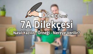 7A Dilekçesi