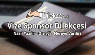 Vize Sponsor Dilekçesi